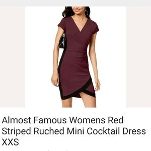 Almost Famous Dresses - ALMOST FAMOUS bodycon cocktail dress